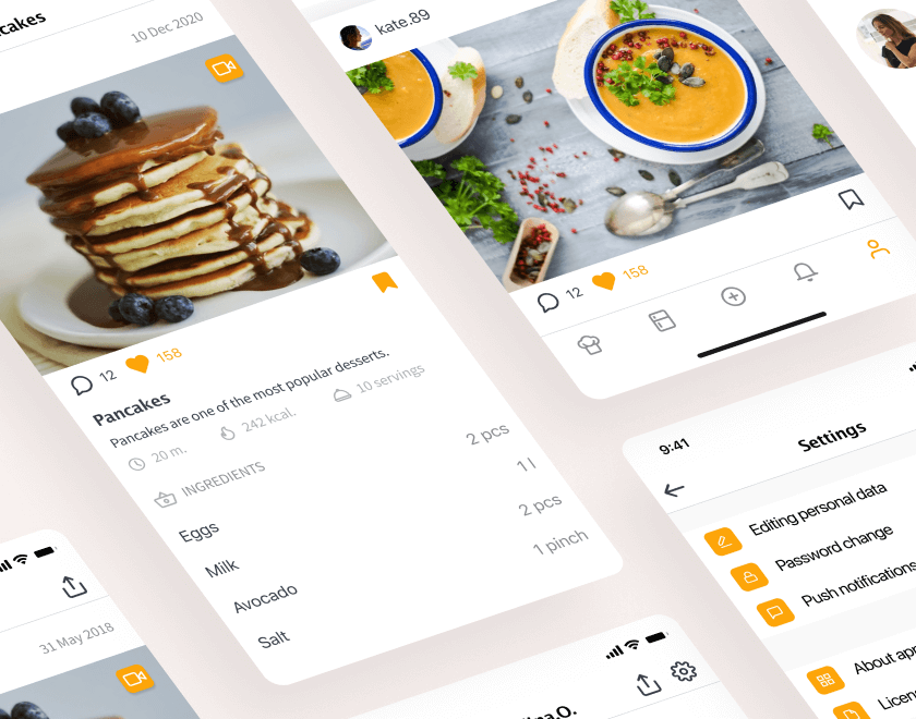 culinary app development